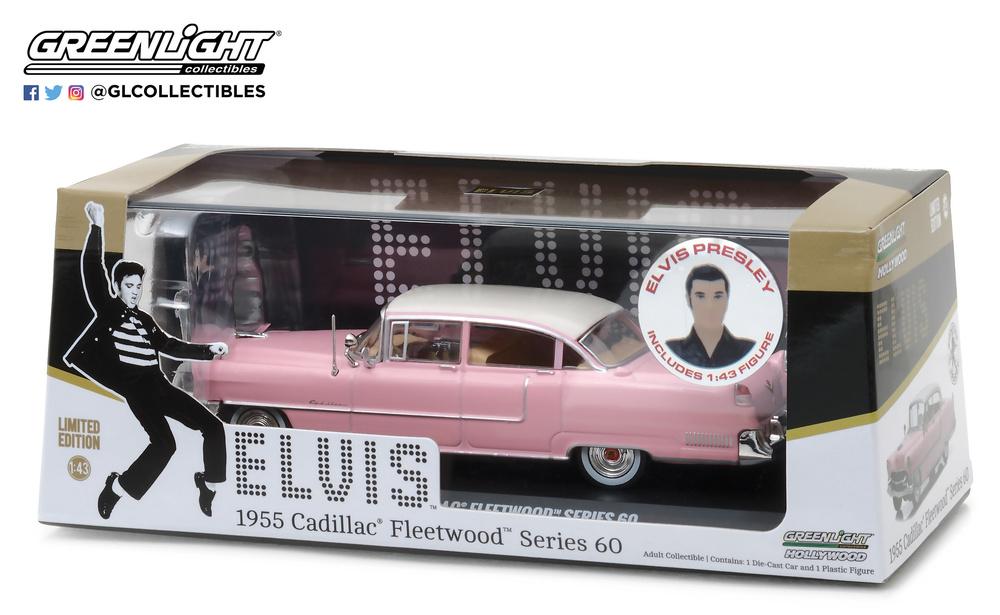 Cadillac Fleetwood Serie 60 con figura de Elvis Presley (1935-77) Greenlight 86436 1/43