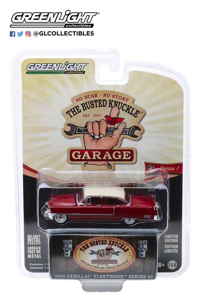 "Cadillac Fleetwood Series 60 ""Motor Medic"" (1955) Greenlight 39010A 1/64"