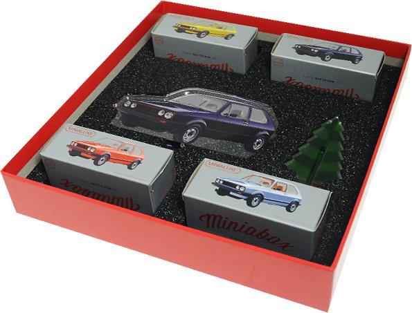 Caja Regalo 4 Volkswagen Golf serie 1 (1975) (Navidad 2017) Minialuxe MB102 1/66