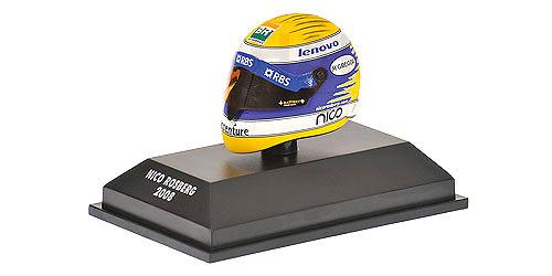 Casco Schubert RF1 nº 7 Nico Rosberg (2008) Minichamps 389080007 1/8