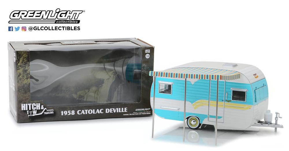 Caravana Catolac DeVille Travel Trailer (1958) Greenlight 18450A 1/24