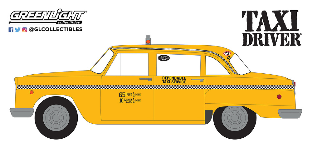 Checker Taxicab - Travis Bickle's (Taxi Driver) 1976 Greenlight 44608B 1/64
