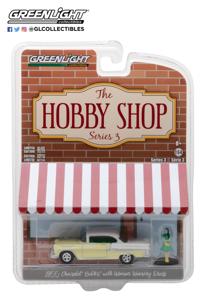 Chevrolet Bel Air con figura (1955) Greenlight 97030B 1/64