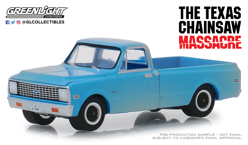Chevrolet C-10 de 1971 The Texas Chain Saw Massacre (1974) Greenlight 44820B 1/64