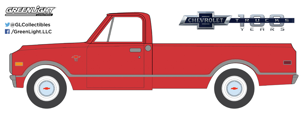 Chevrolet C10 100 aniversario (1968) Greenlight 27940B 1/64