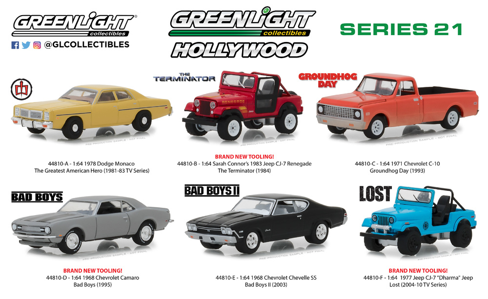 Hollywood serie 21 Greenlight 44810 1/64