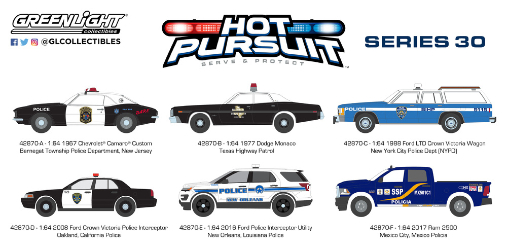 Hot Pursuit series 30 Greenlight 1/64