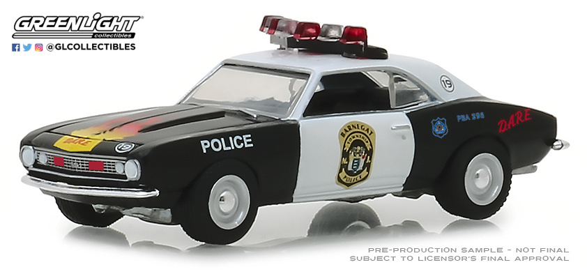 42870-A 1:64 Hot Pursuit Series 30 - 1967 Chevrolet Camaro Custom - Barnegat Township Police Department, New Jersey
