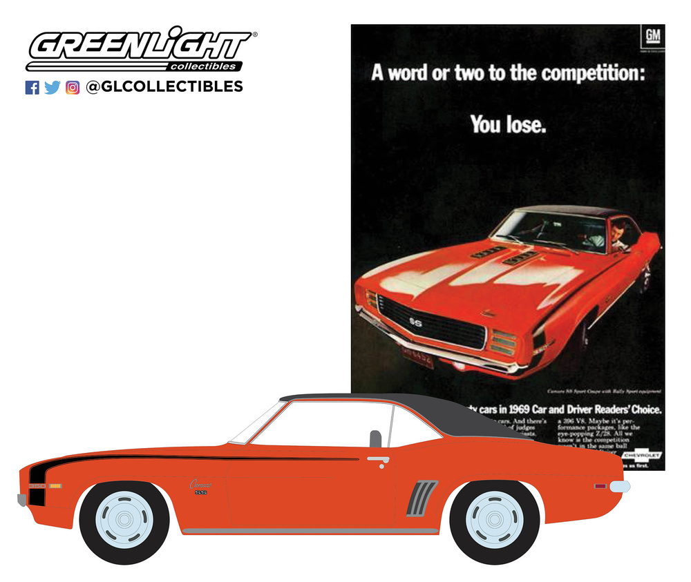 "Chevrolet Camaro SS ""A Word Or Two To The Competition: You Lose"" (1969) Greenlight 39020A 1/64"