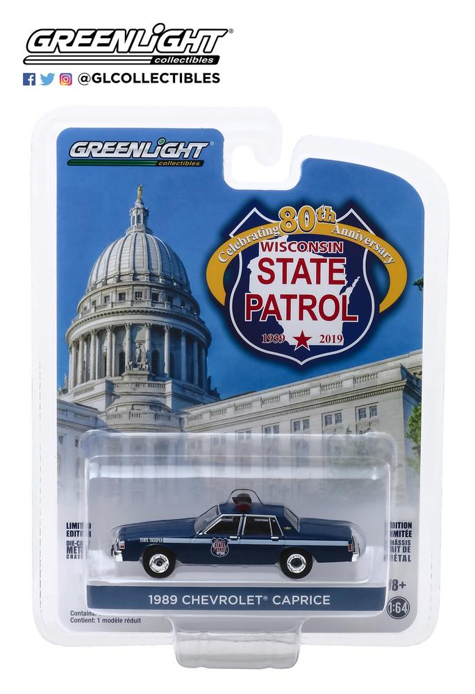 Chevrolet Caprice - Wisconsin State Patrol 80 Aniversario (1989) Greenlight 28000D 1/64