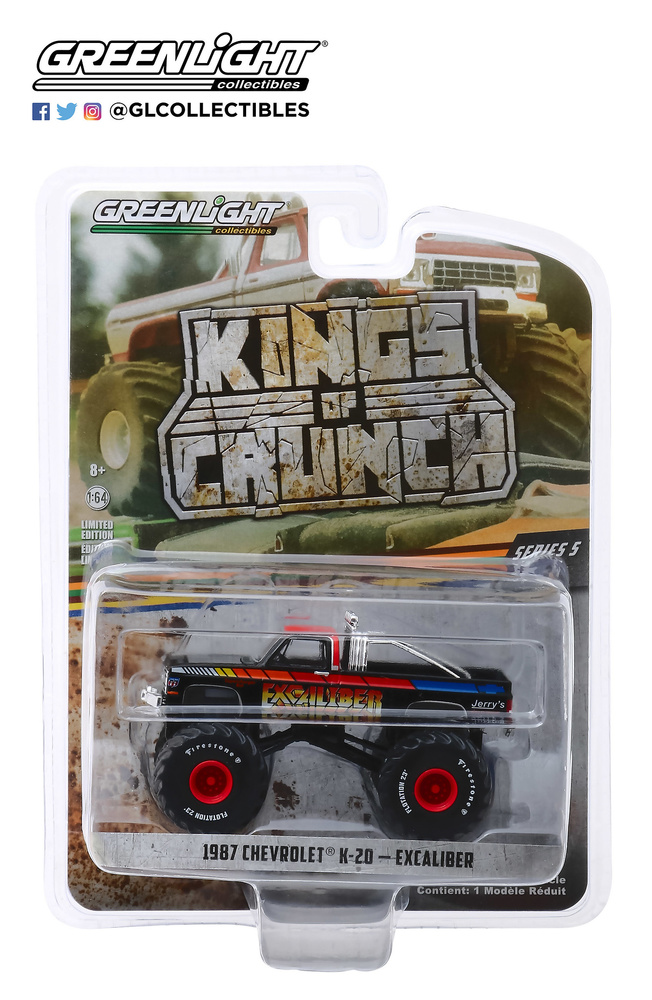 Chevrolet K20 Silverado Monster Truck Excaliber (1987) Greenlight 49050E 1/64