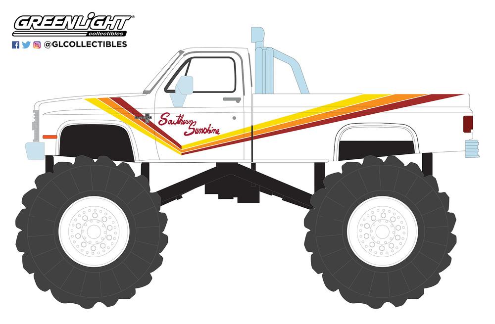 Chevrolet K20 Silverado Monster Truck Southern Sunshine (1981) Greenlight 49050D 1/64