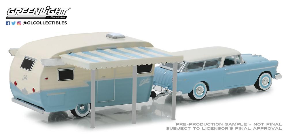 Chevrolet Nomad + Shasta Airflyte (1955) Greenlight 32160A 1/64