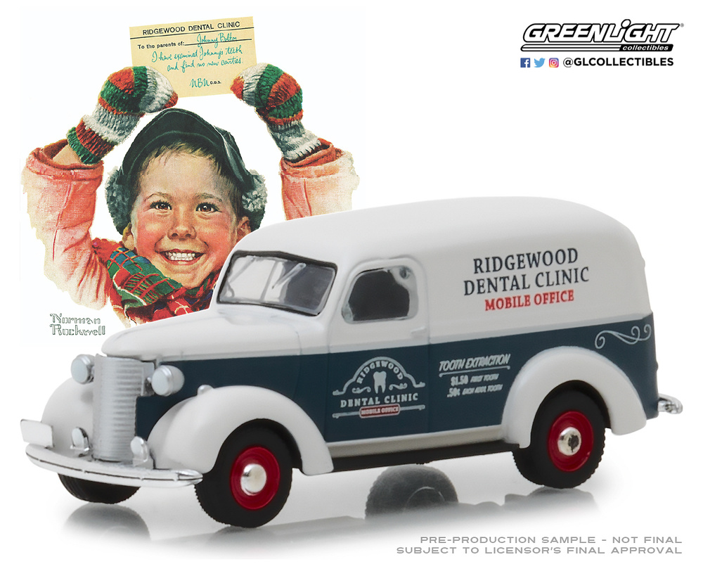 Chevrolet Panel Truck (1939) 37150A Greenlight 1/64