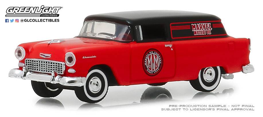 35120-A 1:64 Blue Collar Collection Series 5 - 1955 Chevrolet Sedan Delivery - Marvel Mystery Oil