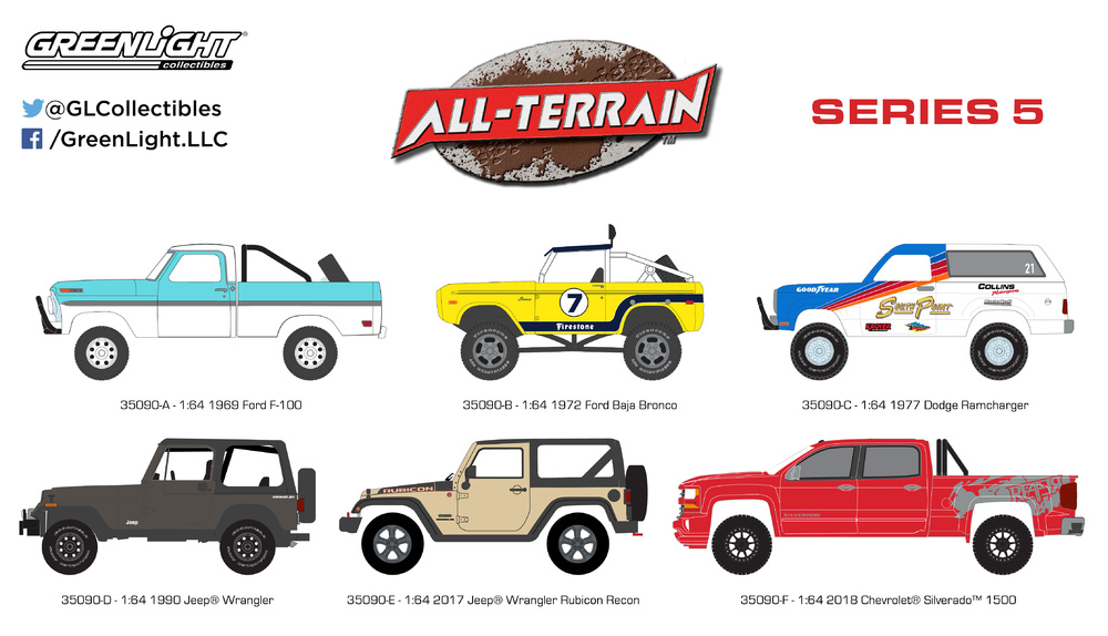 All Terrarin Serie 6 Greenlight 1/64