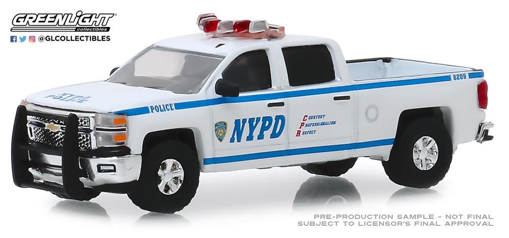 Chevrolet Silverado Departamento de policía de Nueva York (2015) Greenlight 30093 1/64