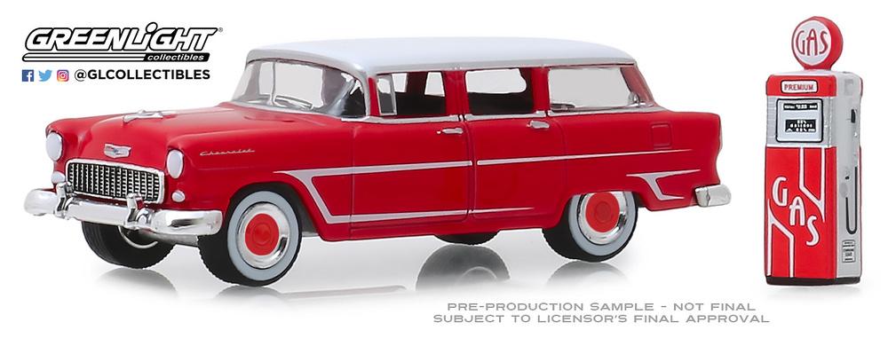 Chevrolet Two-Ten Townsman con surtidor (1955) Greenlight 97070A 1/64