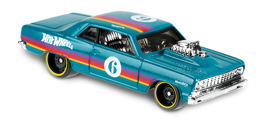 Chevy Chevelle SS nº 6 -Speed Blur- (1964) Hot Wheels FYD41 1/64