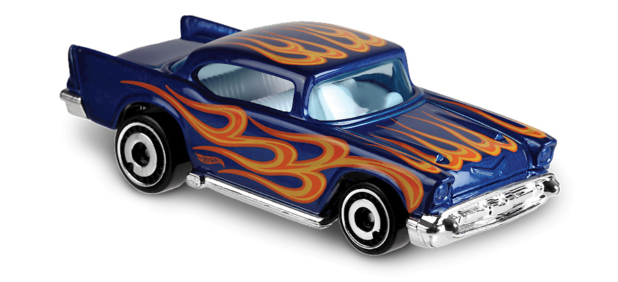 Chevy -Flames- (1957) Hot Wheels FYC41 1/64