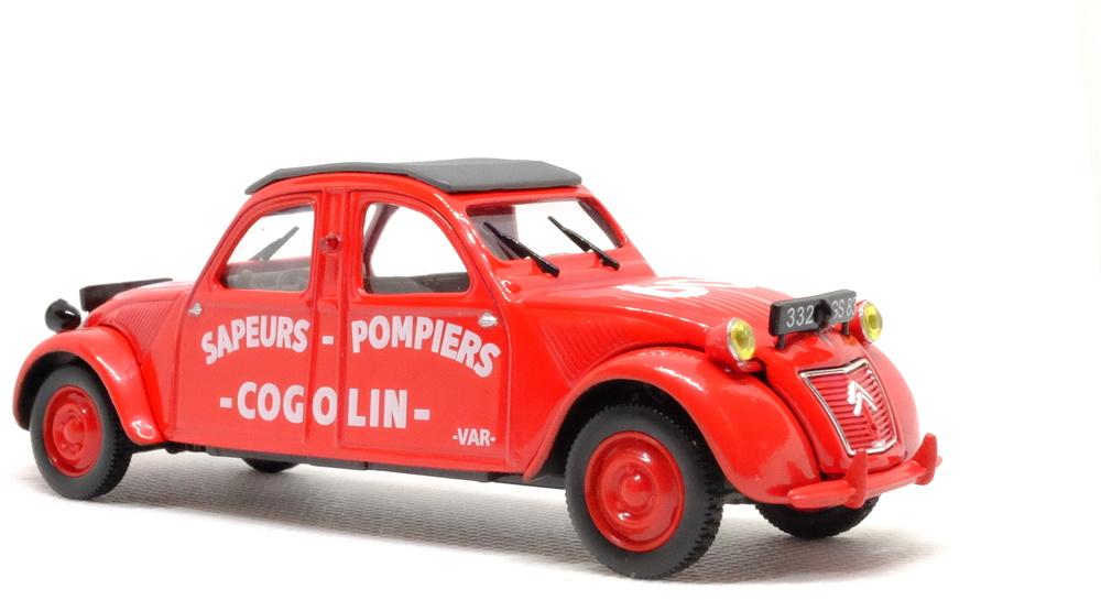 Citroen 2CV Bomberos Cogolin (1961) Norev-Hachette 1/43