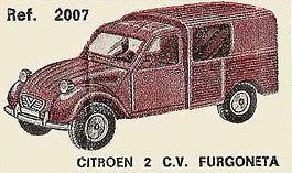 Citroen 2CV Furgoneta Nacoral 2007 1/43