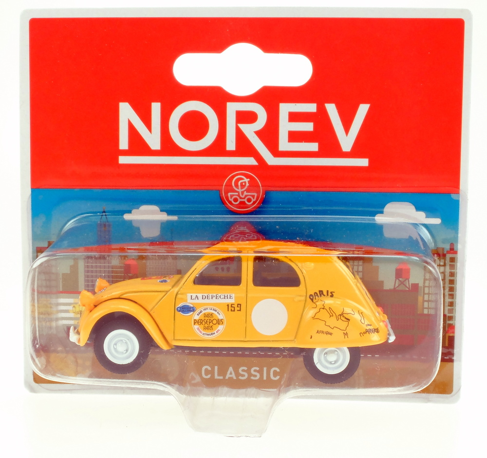 Citroen 2CV nº 159 Raid Paris-Persepolis (1971) Norev 311647 1/64 (1/54)