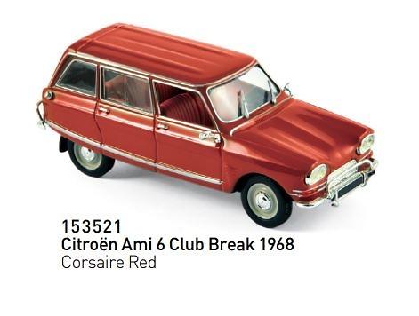 Citroen Ami 6 Club Break (1968) Norev 153521 1:43
