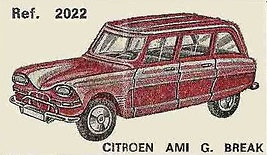 Citroen Ami Break Nacoral 2022 1/43