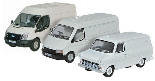Conjunto de 3 Ford Transit 50 aniversario (1965-2015) Oxford 76SET37 1/76