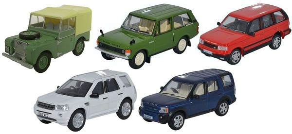 Conjunto de 5 Land Rover clásicos (1960-2000) Oxford 76SET49 1/76