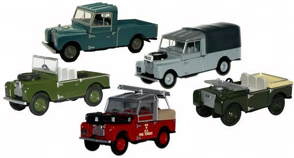 Conjunto de 5 Land Rover series clásicas (1948-85) Oxford 76SET17E 1/76