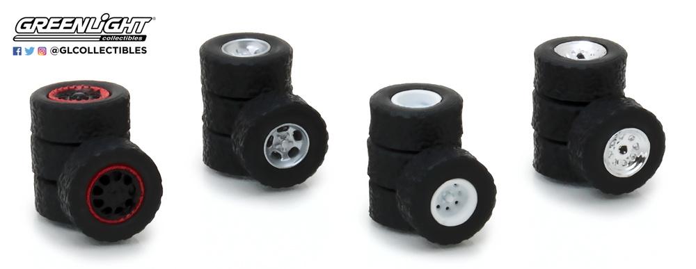 Conjunto de neumáticos con llanta Greenlight 13162 1/64