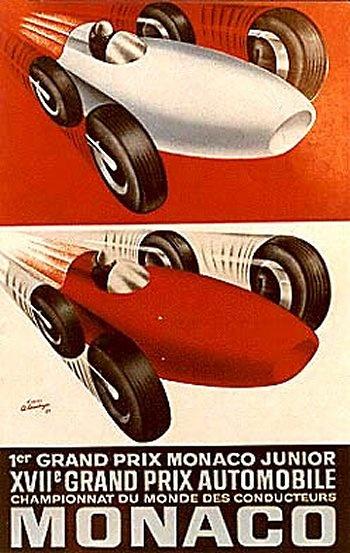 Poster del GP. F1 de Mónaco de 1959