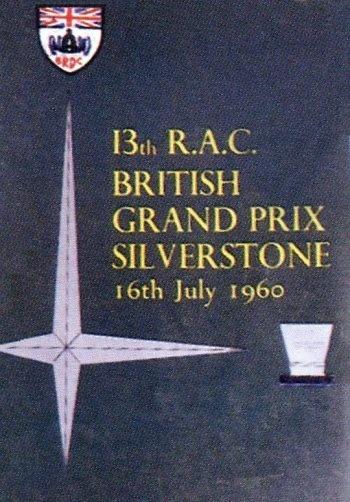 Poster del GP. F1 de Gran Bretaña de 1960