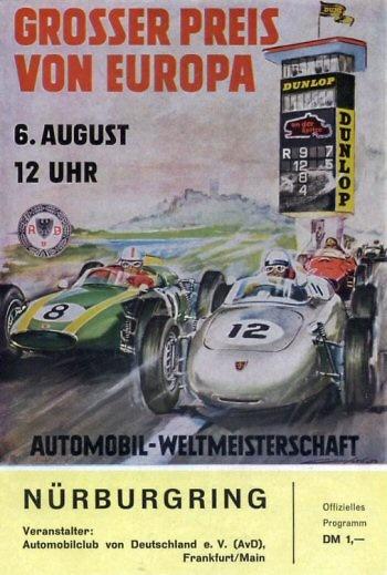 Poster del GP. F1 de Alemania de 1961