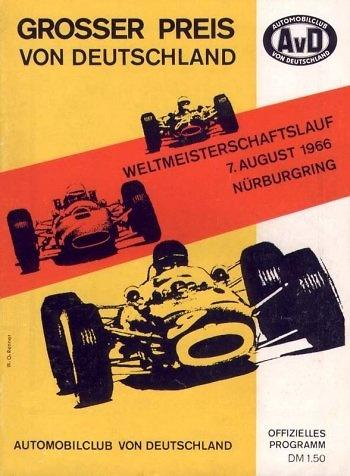 Poster del GP. de Alemania de 1966