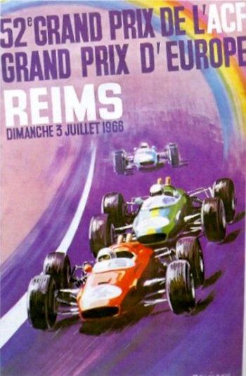 Poster del GP. F1 de Francia de 1966
