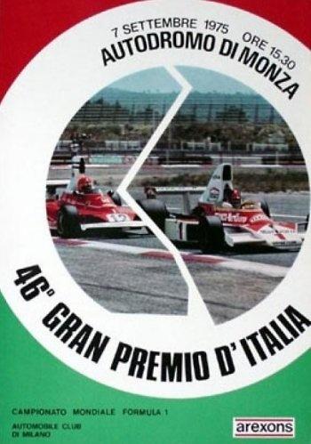 Poster del GP. F1 de Italia de 1975