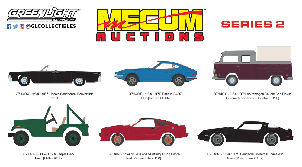 Mecum Auctions serie 2 Greenlight 37140 1/64