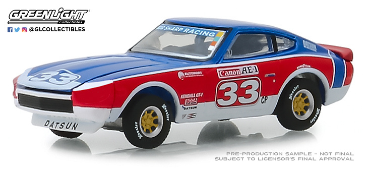 Datsun 240Z nº 33 Bob Sharp Racing (1973) Greenlight 47030D 1/64