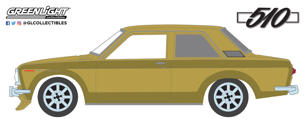 Datsun 510 (1968) Greenlight 27970A 1/64