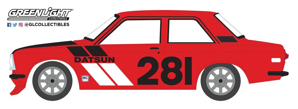 Datsun 510 nº 281 (1970) Tokyo Torque Greenlight 47040A 1/64
