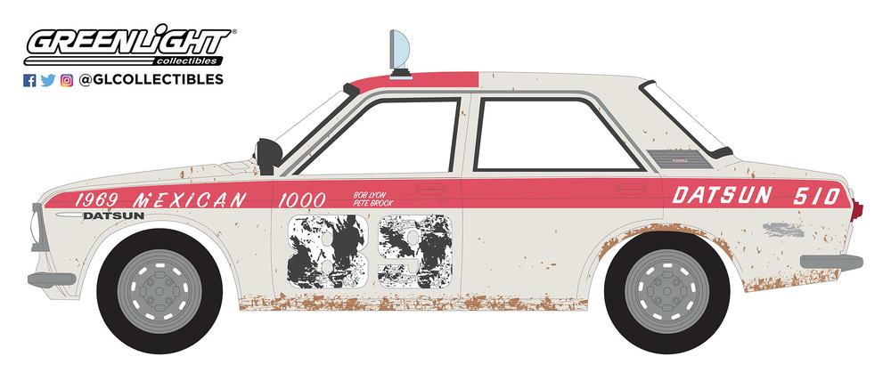 Datsun 510 Sedán nº 89 Brock Racing Enterprises BRE (1969) Greenlight 47050A 1/64