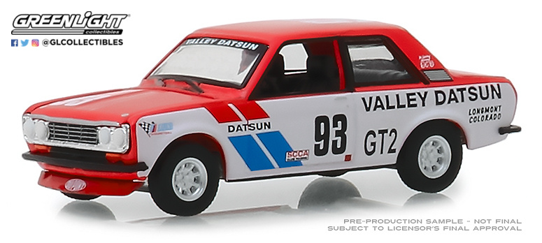 Datsun 510 nº 93 Valley Datsun (1972) Greenlight 47030A 1/64