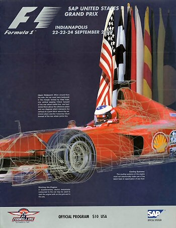 Poster GP. F1 Indianapolis 2000