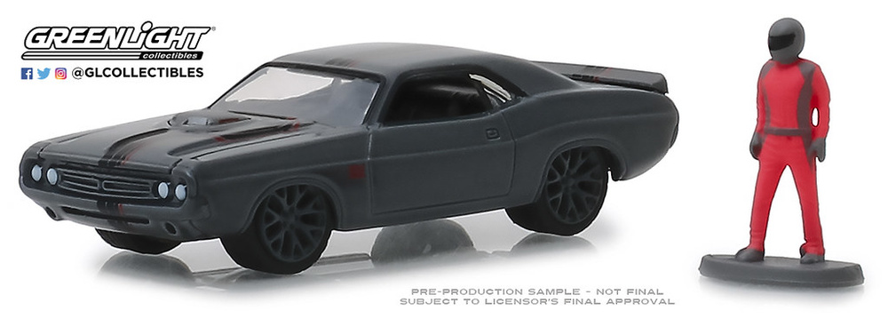 "97060-D 1:64 The Hobby Shop Series 6 - 1971 Dodge Challenger ""Shakedown"" (SEMA Concept) with Race Car Driver"