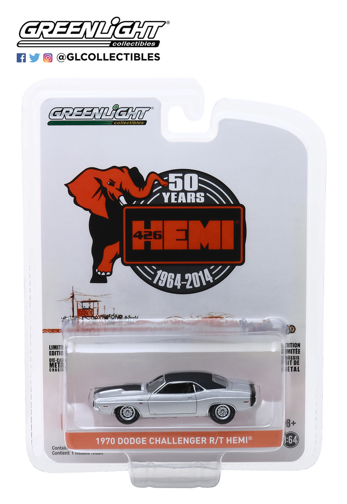 Dodge Challenger R/T 426 HEMI (1970) Greenlight 28000B 1/64