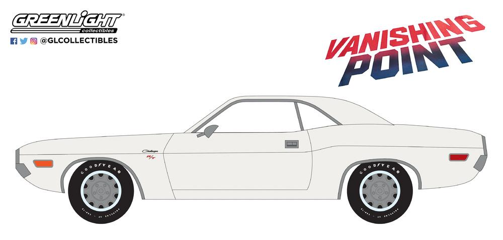 Dodge Challenger R/T de 1970 Vanishing Point (1971) Greenlight 44820A 1/64