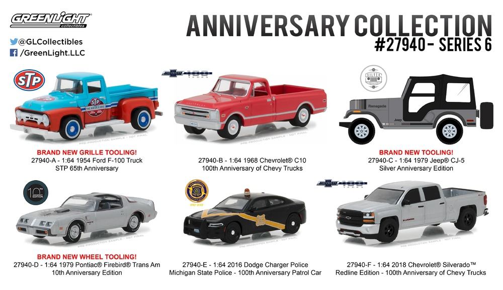 Coleccion Aniversario serie 6 Greenlight 27940 1/64